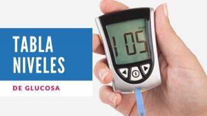 Tabla niveles glucosa