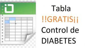 tabla gratis control diabetes